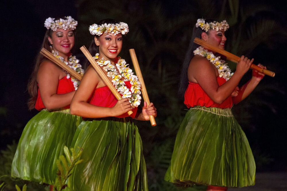 Women performing aloha dance