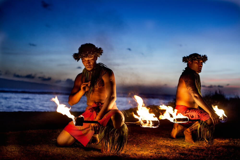 Fire dance in Hawaii
