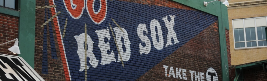 Billboard about Red Sox and Fenway Park in Boston
