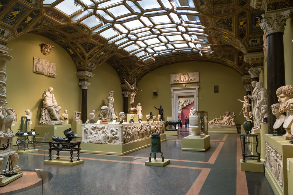 Interior of the Pushkin Museum of Fine Arts, Moscow, Russia