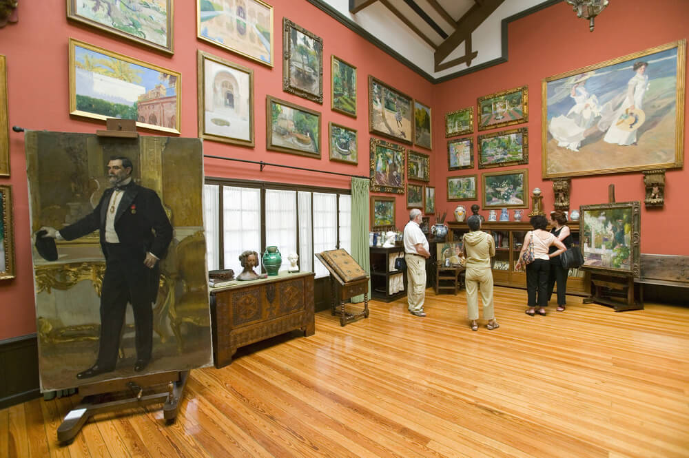 Interior of Museo Sorolla in Spain