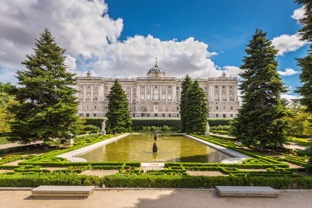 View of the Royal Palace in Madrid, Spain