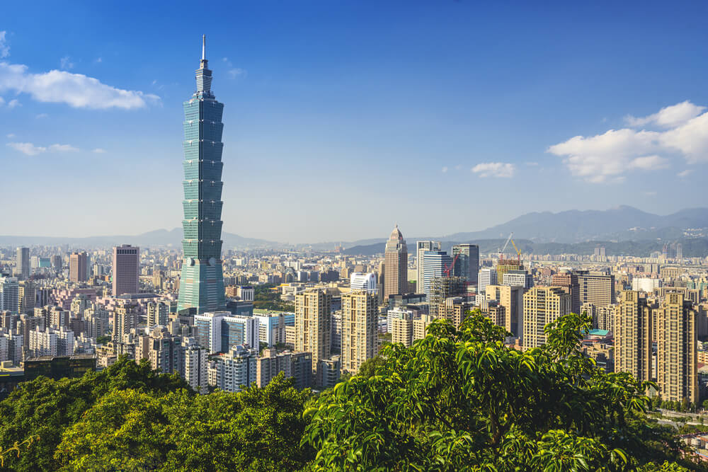 Taipei 101 among the city's landscape