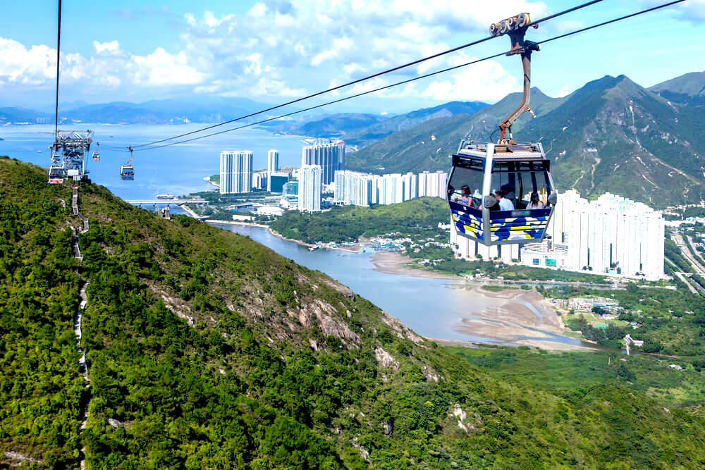 cable car on Lantau Island, Hong Kong