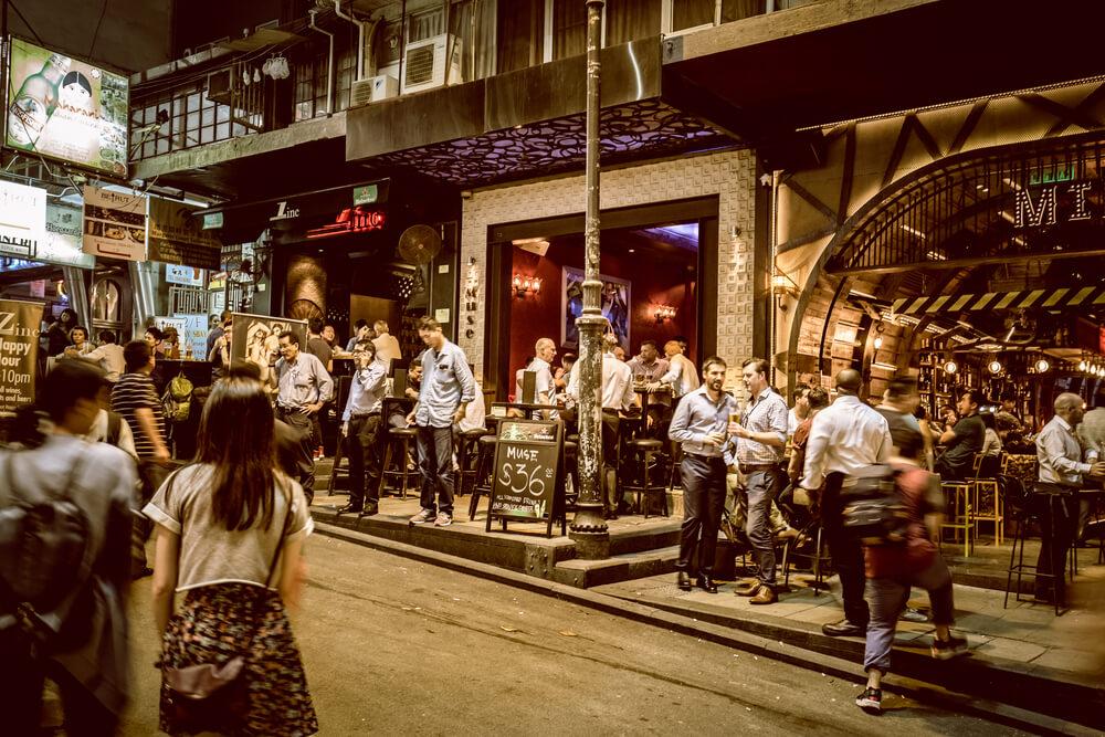 Lan Kwai Fong street market, Hong Kong
