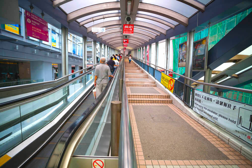 longest escalator in the world, Hong Kong