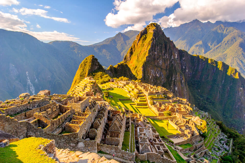 Beautiful view of Machu Picchu in Peru