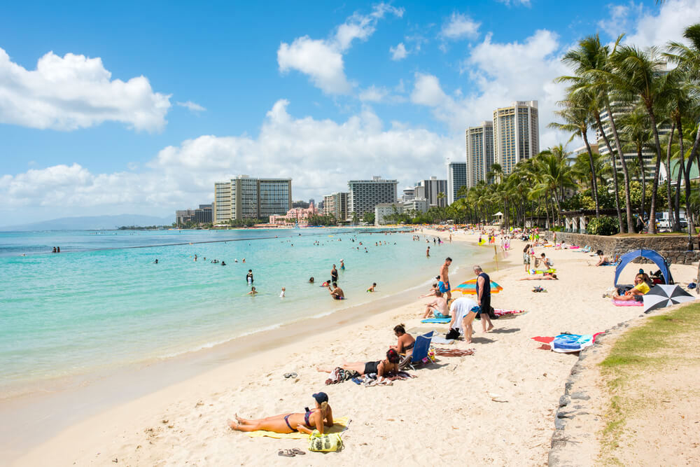 Waikiki Beach, Honolulu, Hawaii