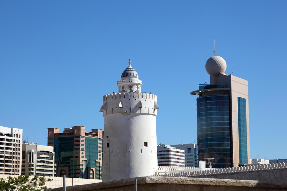 Qasr al-Hosn tower - the oldest stone building in Abu Dhabi, United Arab Emirates.