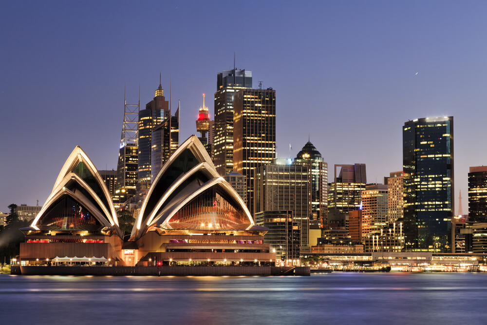 City skyline of urban Sydney, Australia