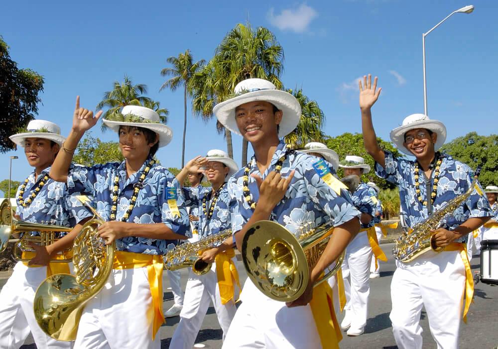 Aloha Festivals 2005 Floral Parade in Honolulu Hawaii