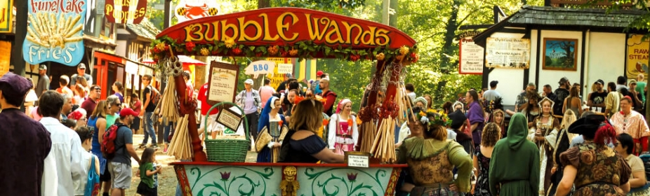 Annapolis, Maryland, USA - September 19, 2015: Renaissance Fair Street Activity