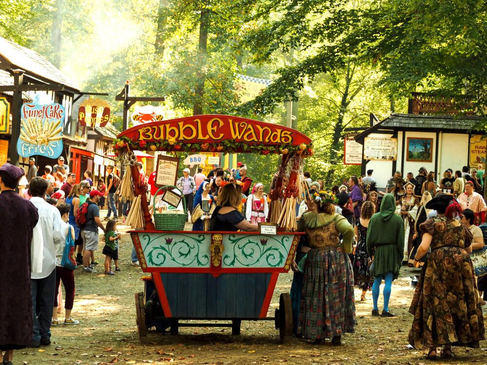 Annapolis, Maryland, USA - September 19, 2015: Renaissance Fair Street Activity