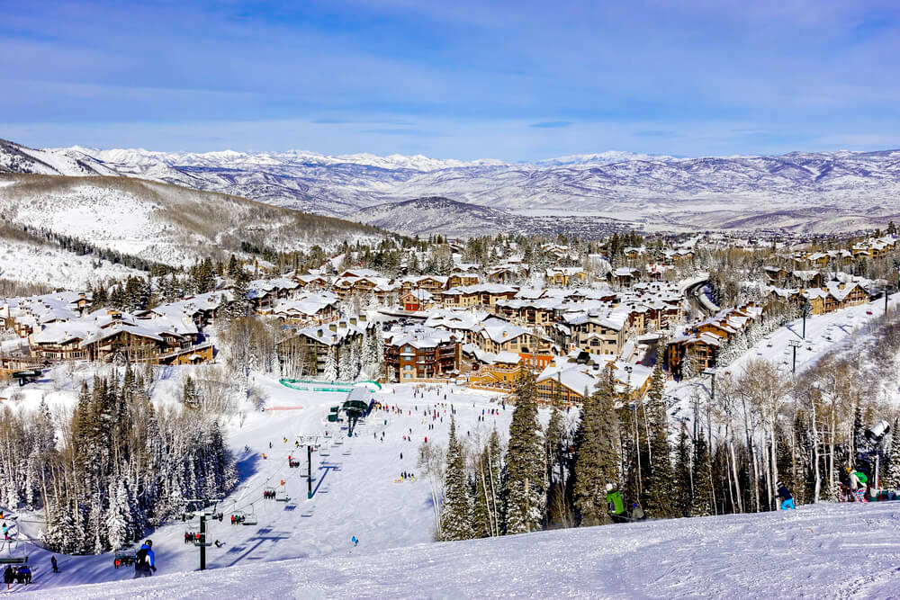 Ski runs in Park City, Utah