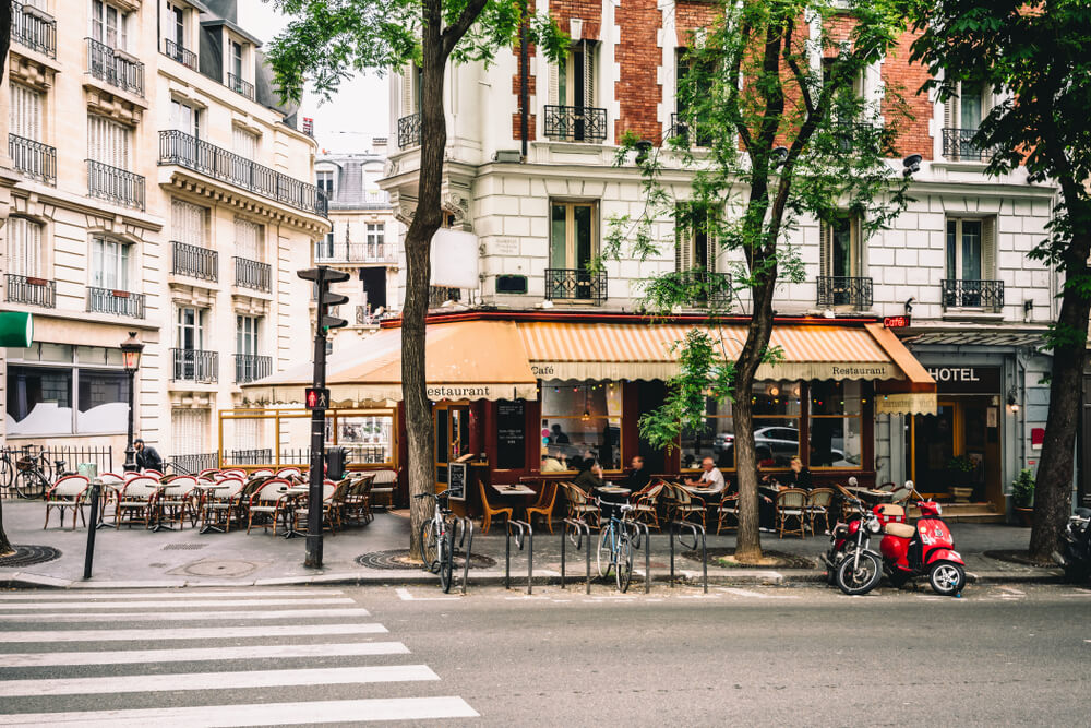 Little romantic street in Paris